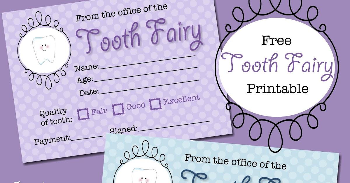 The Polka Dot Posie: Free Tooth Fairy Receipt Printable