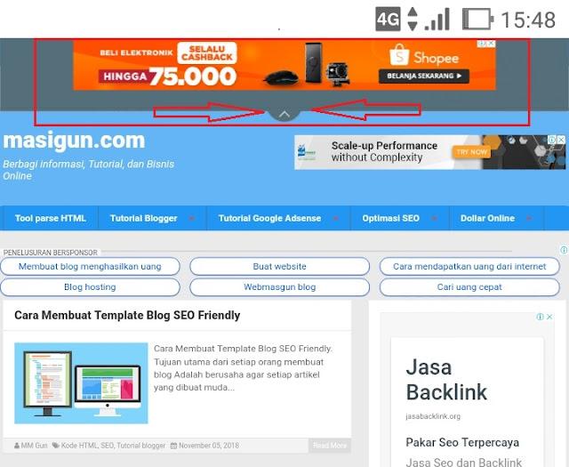 posisi iklan untuk meningkatkan jumlah klik