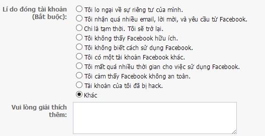 Cách khóa facebook một thời gian