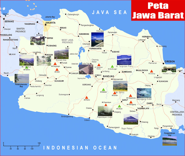Gambar Peta Jawa Barat