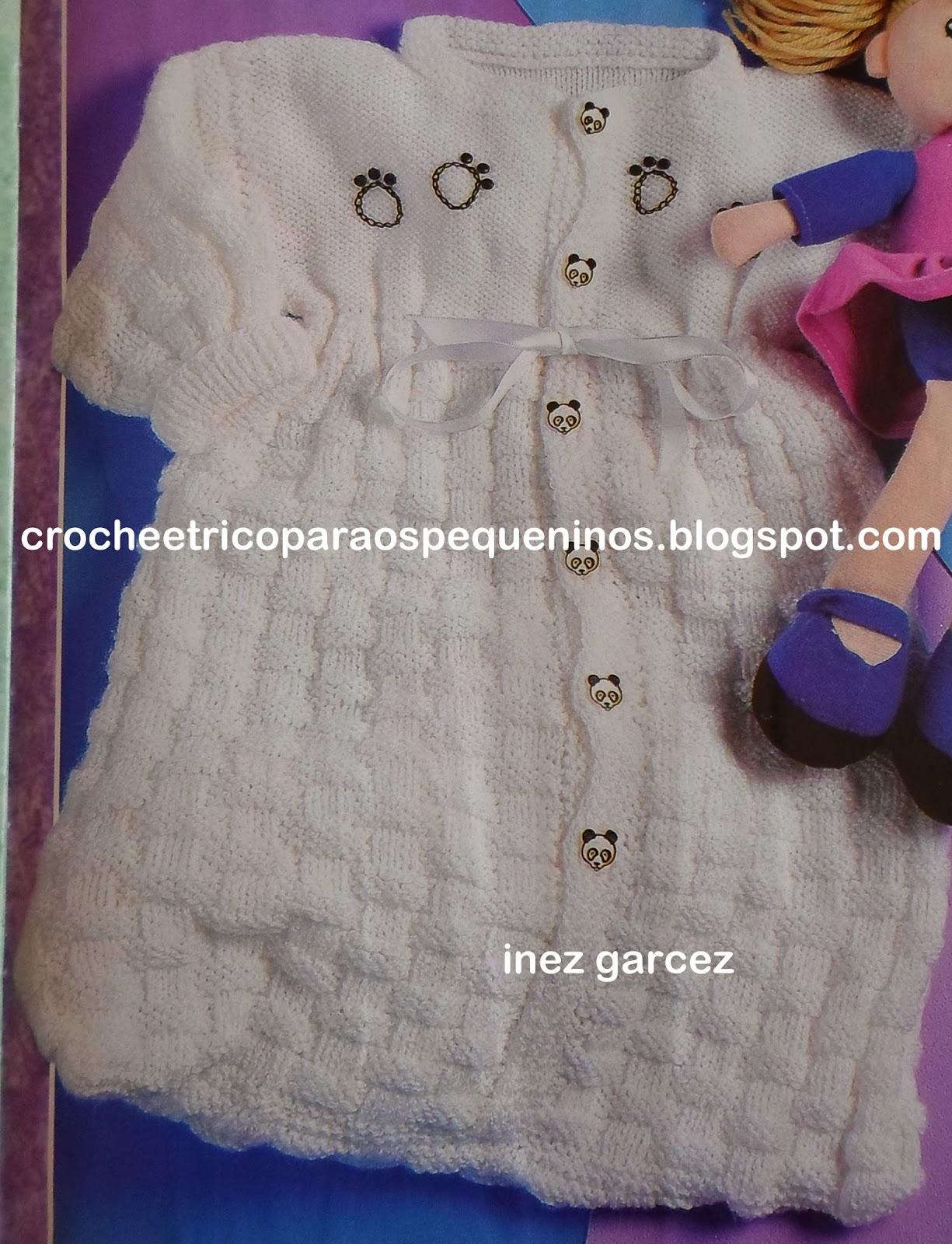 8e70bf4c1411 CROCHE E TRICO PARA OS PEQUENINOS: Saco de dormir, de trico, para bebe