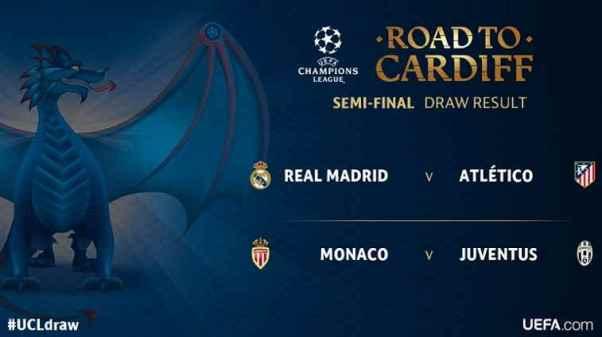 Hasil Undian dan Jadwal Semifinal Liga Champions: Real Madrid vs Atletico, Juventus vs Monaco