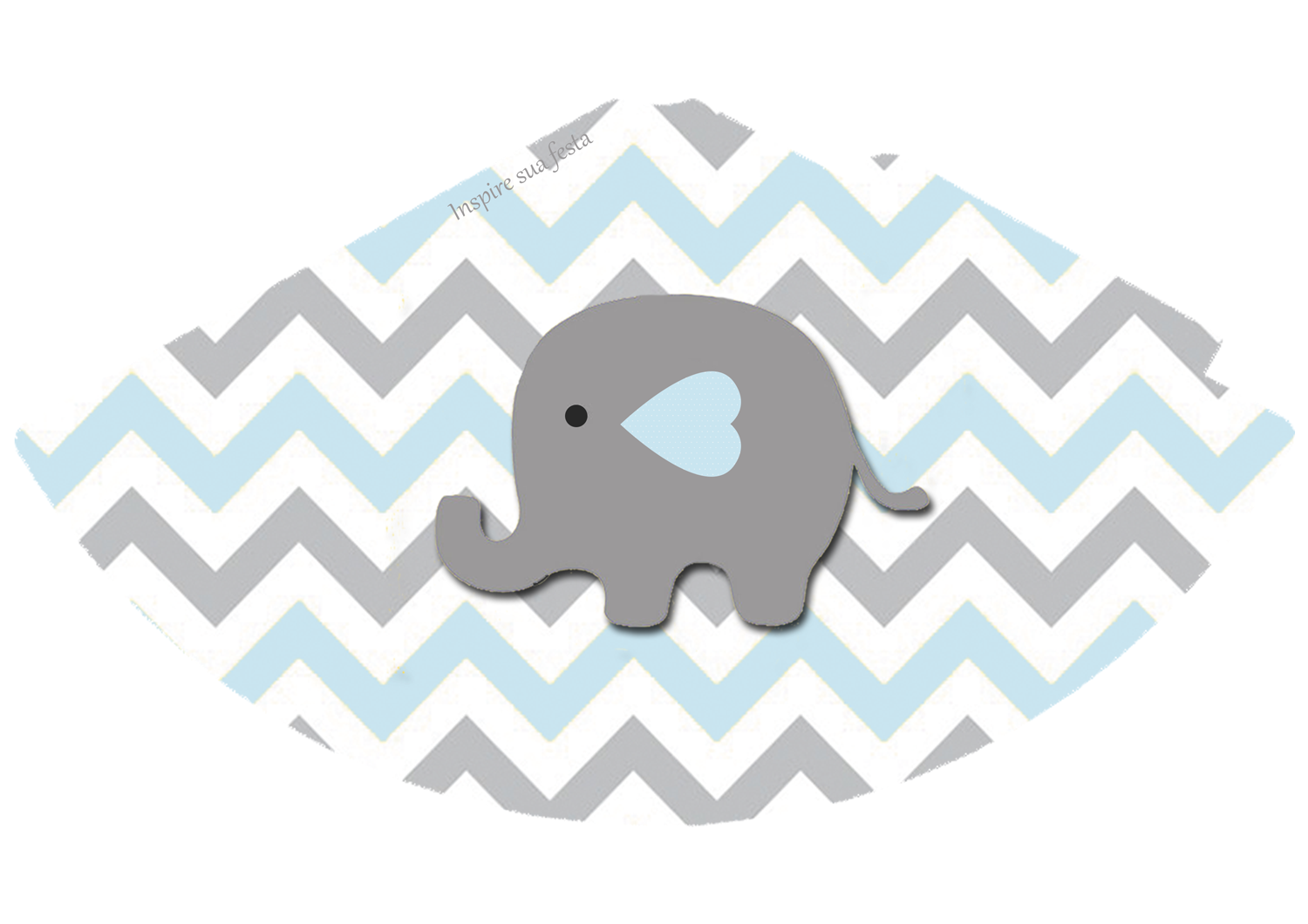 Baby Elephant In Grey And Light Blue Chevron Free Printable Boxes And Free Party Printables