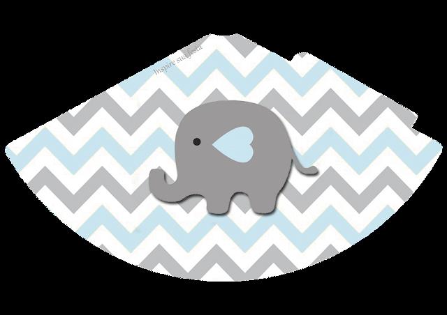 Elefante Bebé en Celeste y Gris: Cajas para Imprimir Gratis e ...