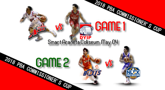 List of PBA Games: May 04 at Smart Araneta Coliseum 2018 PBA Commissioner's Cup