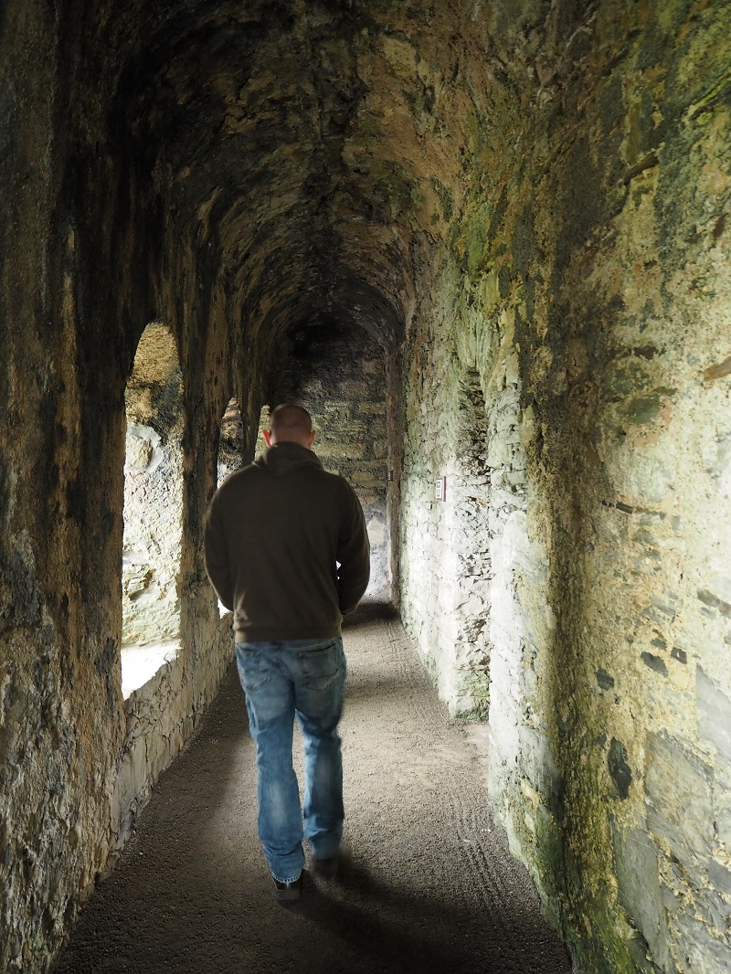 wandering corridors inside Scalloway castle