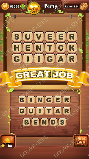 Word Bright Level 124 Answers, Cheats, Solutions, Walkthrough for android, iphone, ipad and ipod