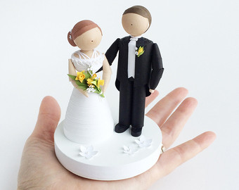 quilling 3d doll couple