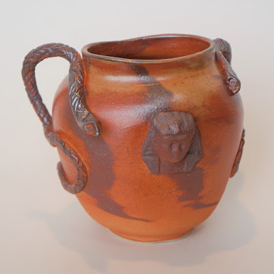 Handmade Egyptian look stoneware / pottery vase by Lily L.