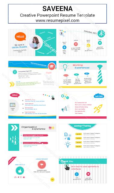 Curriculum Vitae Kreatif Format Microsoft Powerpoint