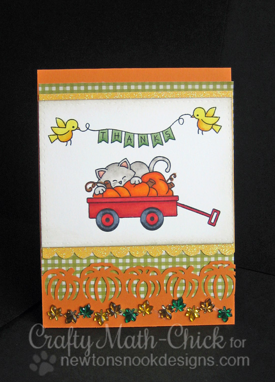 Fall Wagon Card by Crafty Math-Chick for Newton's Nook Designs | Wagon of Wishes & Winged Wishes Stamp Sets