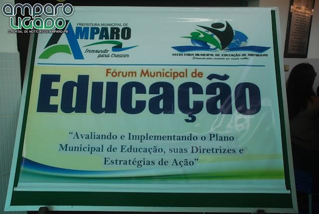 Secretaria de Educação de Amparo realizou Fórum Municipal de Educação visando o PME