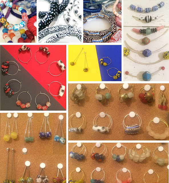 African jewellery,ethical jewellery, ethicall sourced, sustainable jewellery designer, small business, shop small, recycled glass beads, 100% recycled, handmade jewellery, krobo beads, krobo bead market, Ghanaian beads, made in Ghana, african beads, handpainted beads, etsy jewellery