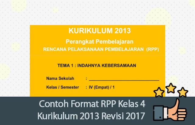 RPP Kelas 4 Kurikulum 2013