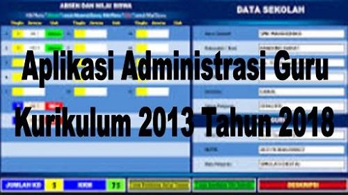 Aplikasi Administrasi Guru SD SMP SMA SMK Terbaru
