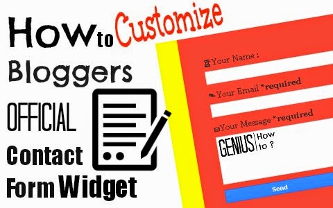 how to customize bloggers official contact form widget via geniushowto.blogspot.com flat and colorful contact form page and widget