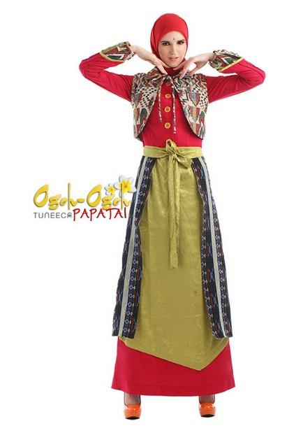 Koleksi Baju Muslim Model Etnik Untuk Wanita Terbaru 2016 Model