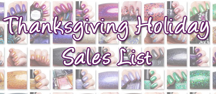 xoxoJen's Thanksgiving Sale List