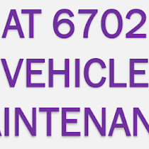 AT6702 Vehicle Maintenance Lecture Notes - University
