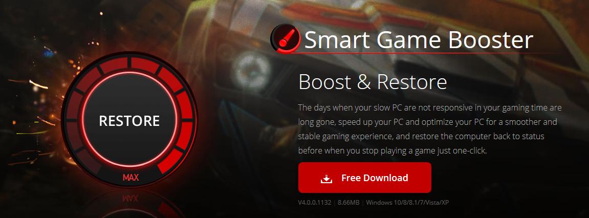 برنامج Smart Game Booster لتسريع الألعاب على الأجهزة الضعيفة