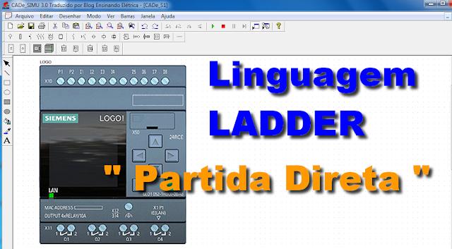 Aprender Linguagem LADDER - Partida Direta com CLP
