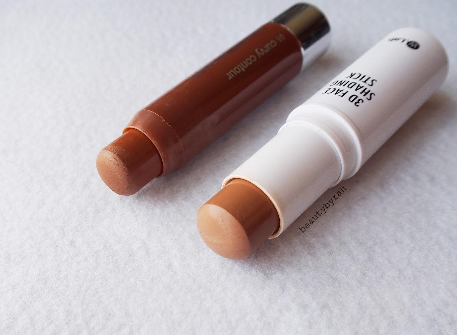 w.lab 3D Face Shading Stick Review vs clinique chubby contour stick