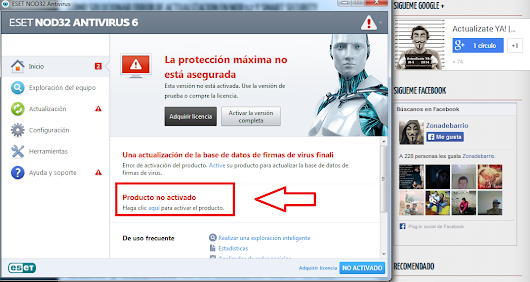 Cómo cambiar Clave en ESET NOD32 y Smart Security Version 6/7 ~ Actualizate YA! | Con ZonaDeBarrio