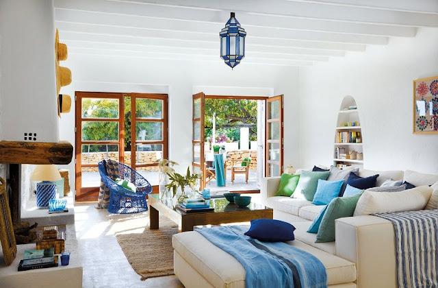interior blanco estilo ibicenco