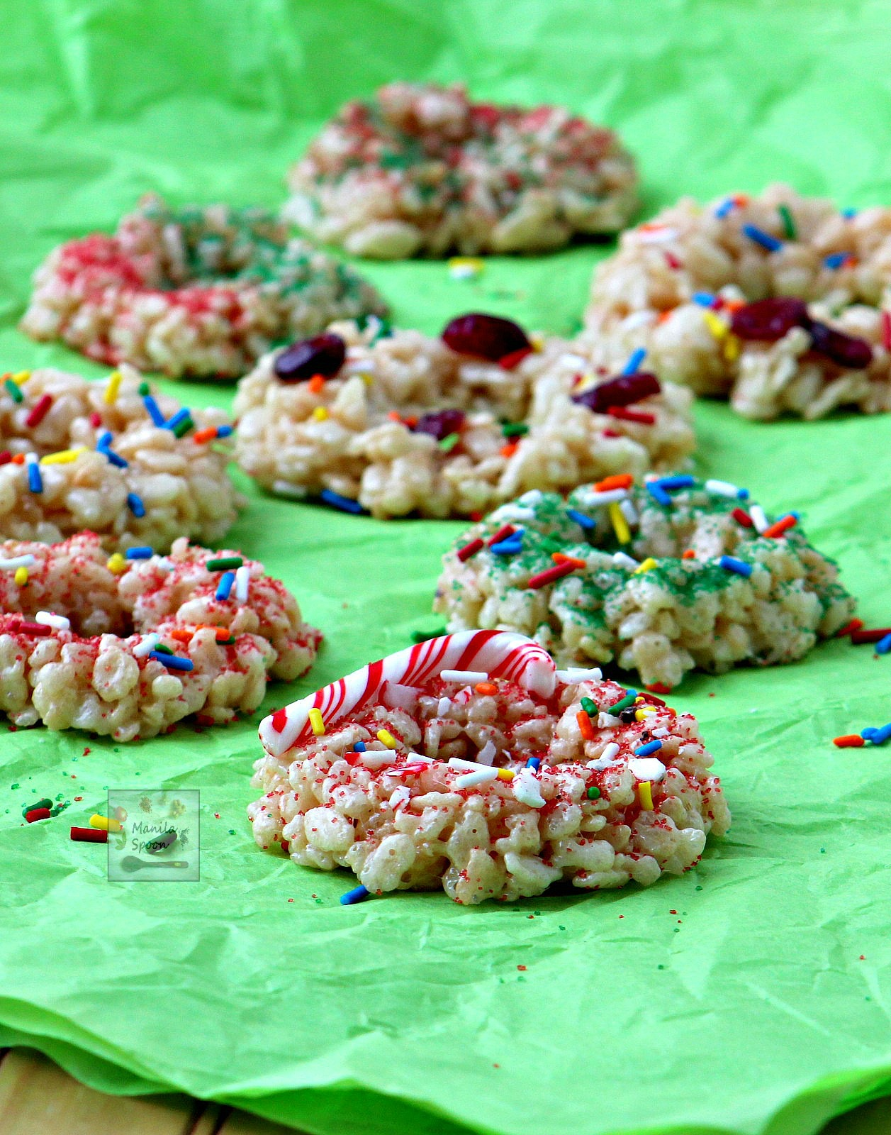 Christmas Krispie Wreaths
