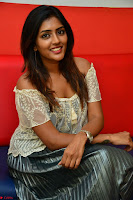 Eesha in a cute deep neck top and Skirt at at Big FM 050.JPG