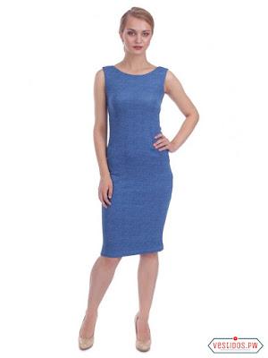 vestidos color azul de noche