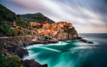Wallpaper: Italian Cliffs. Manarola. Cinque Terre