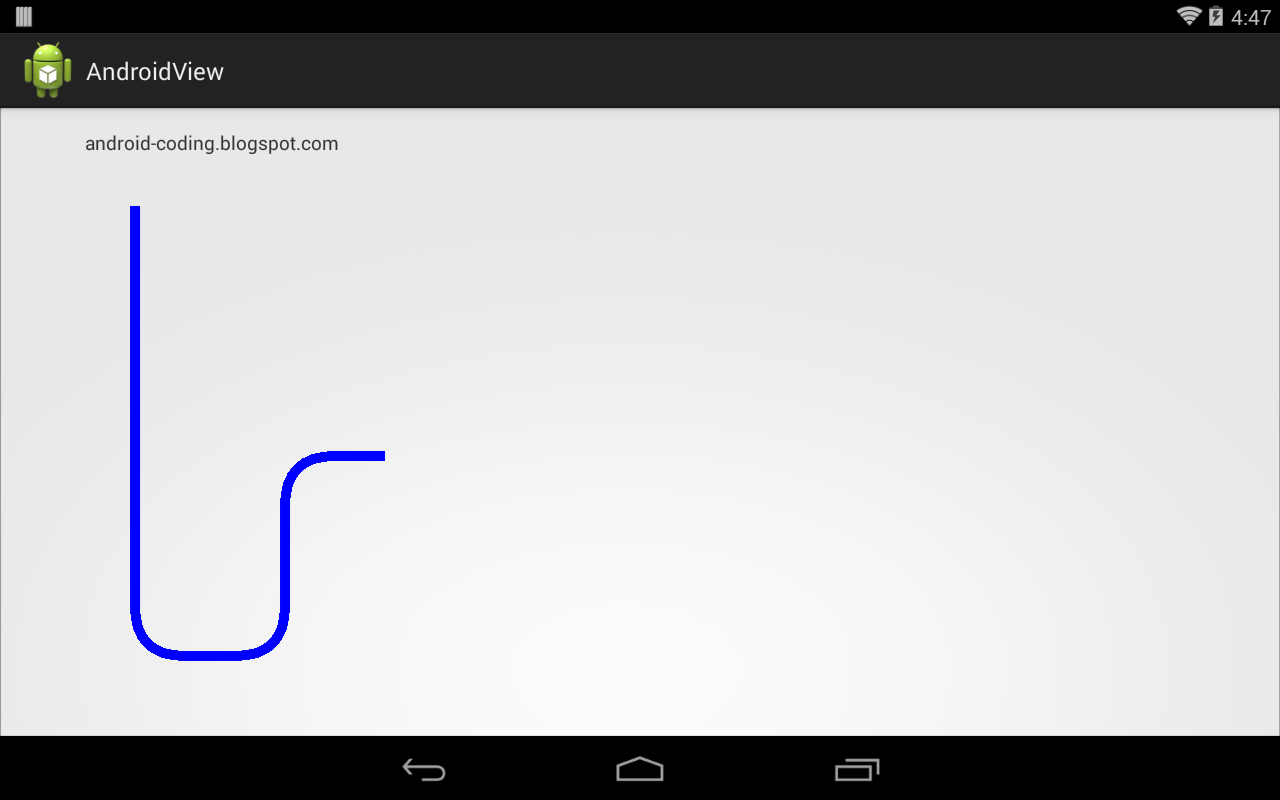 Android draw a line