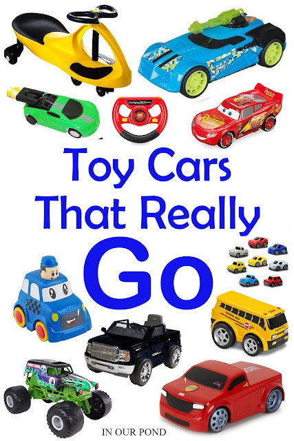 Toy Cars that Really Go // In Our Pond // Hot Wheels // Power Wheels // battery-powered