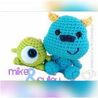 http://amigurumislandia.blogspot.com.ar/2019/01/amigurumi-sulley-bebe-crochet-y-amigurumis.html