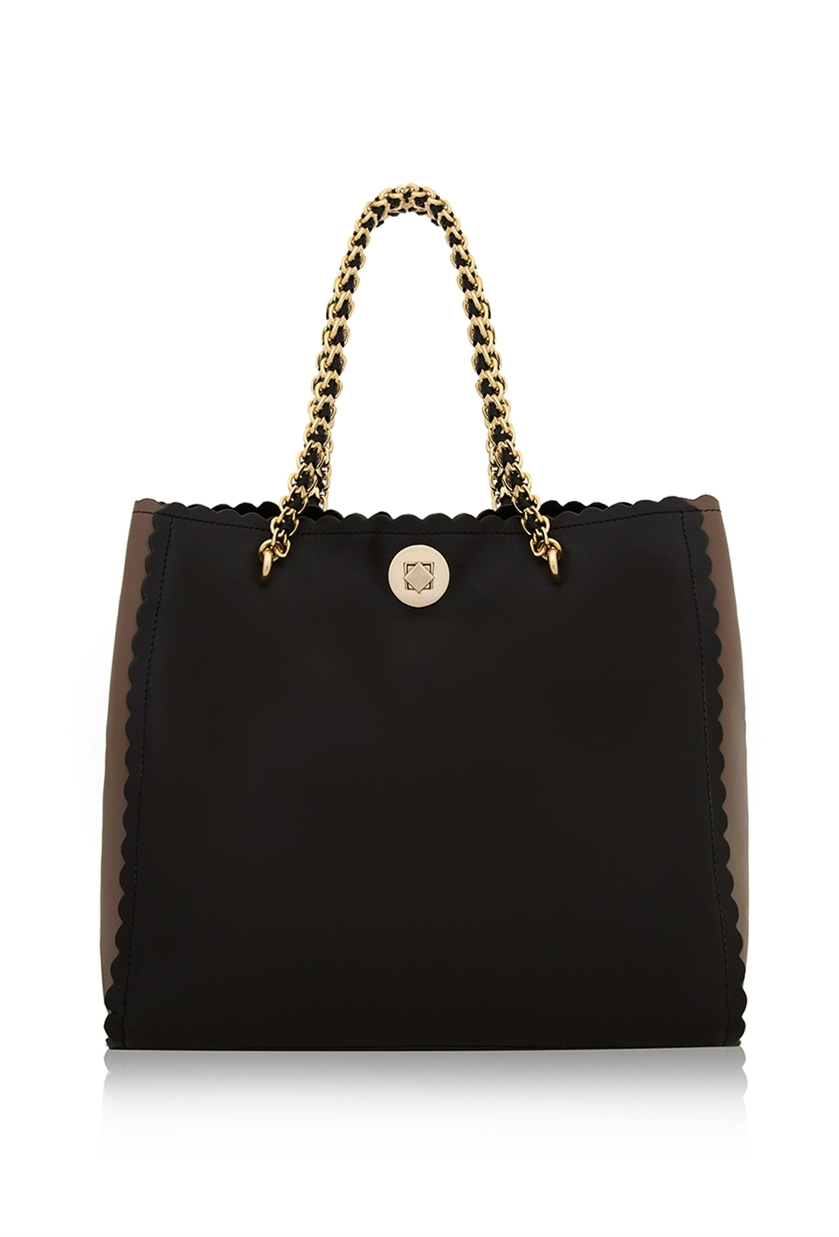 Ghost Crystal Shopper Black & Mink