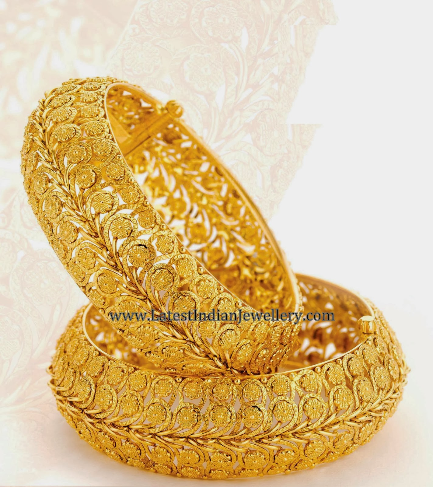 Heavy Plain Gold Bangles