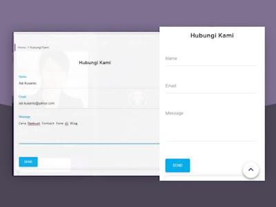 Cara membuat contact form di blog