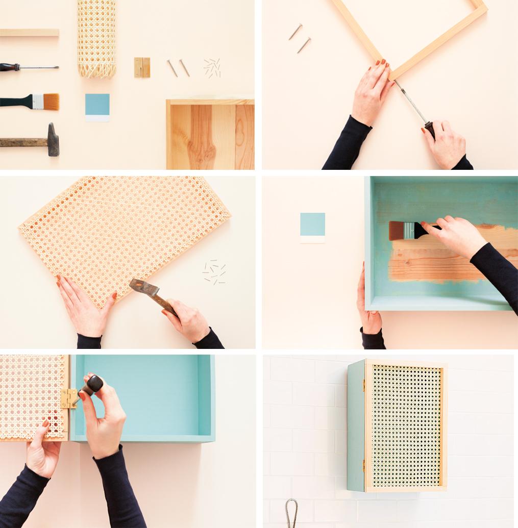 diy gabinete mueble auxiliar de cannage o rejilla decoracion facil y lowcost paso a paso