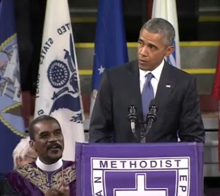Obama sings Amazing Grace