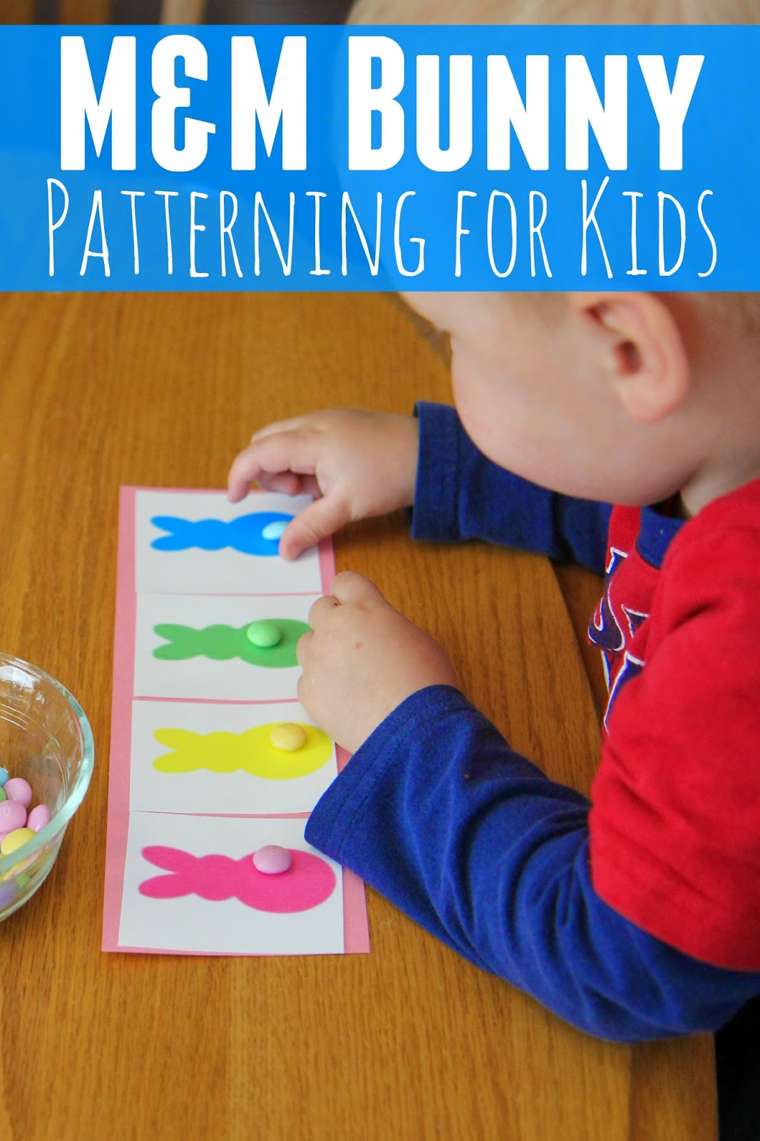 Toddler Approved M Amp M Bunny Patterning Activity For Kids