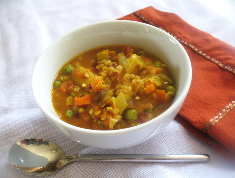 Spiced Red Lentil, Barley and Vegetable Soup | Lisa's ...