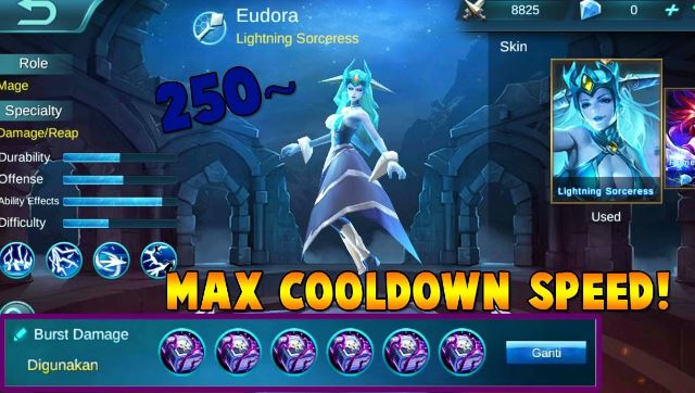 Maximum Cooldown reduction mobile legends