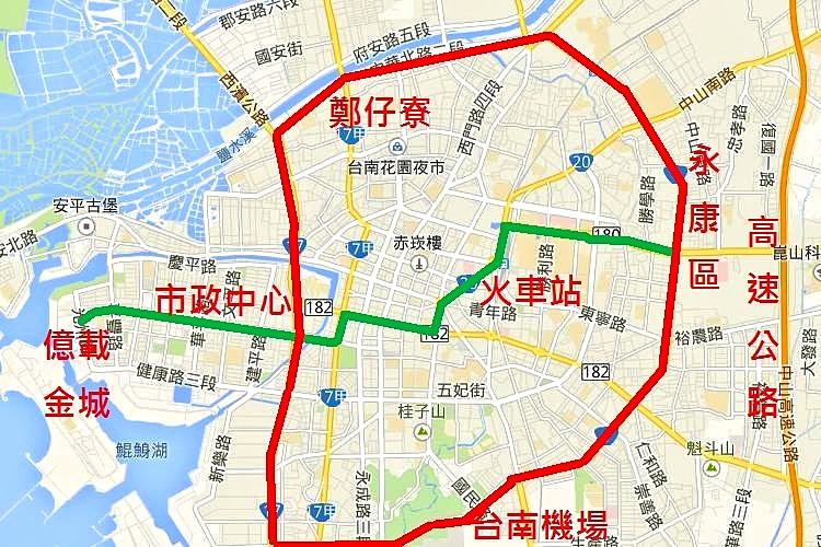 臺南市捷運第二階段路線規劃出爐 安平線、環狀線高架單軌拚107年啟動   樂活臺南 tainanlohas.cc