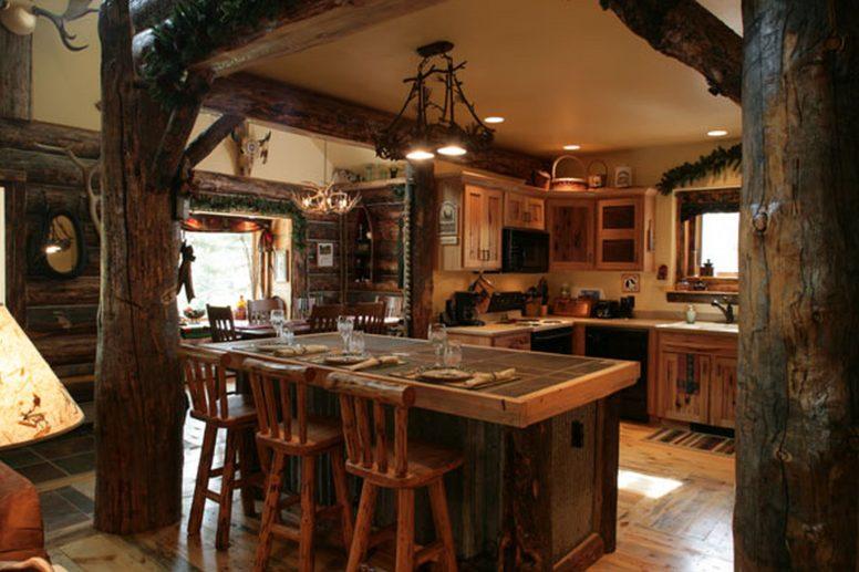 15 Traditional & Rustic Warm Interior Wood Decorating ... on Traditional Rustic Decor  id=77583