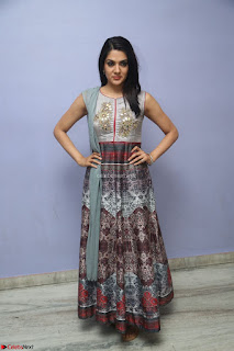 Sakshi Chaudhary Beautiful Emroidery Work Sleeveless Anarkali Dress 013.JPG