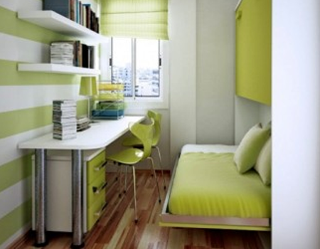 desain kamar tidur bernuansa hijau - desain rumah