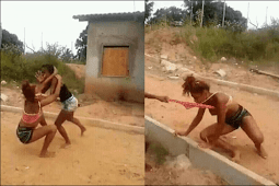 Drama As Two Young Ladies Fight In Public In Anambra State (See Photos)