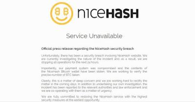 Hacker Retas NiceHash, Curi Dana Sebesar 60.000.000 USD