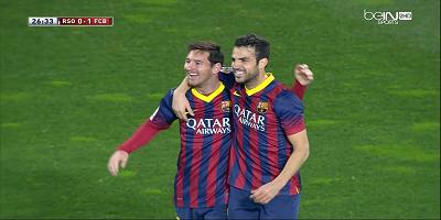 Copa Del Rey : Real Sociedad 1 vs 1 Barcelona 12-02-2014